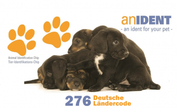 250x Anident Animal Identifikation Microchip ISO Transponder 276 German Country Code